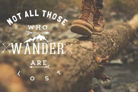 Not All who wonder are lost shoes